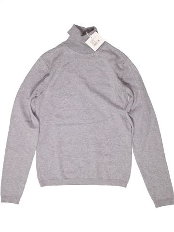 Pull fille DPAM gris 12 ans hiver #1272084_1