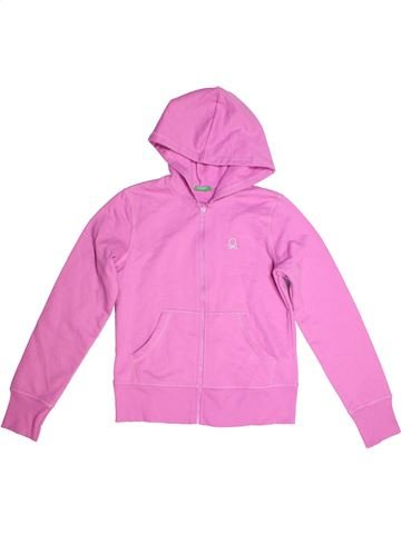 Sweat fille BENETTON rose 12 ans hiver #1272113_1