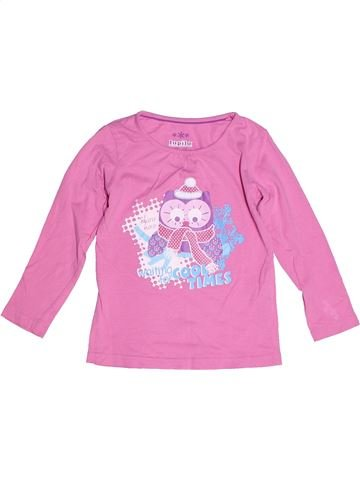 T-shirt manches longues fille LUPILU rose 4 ans hiver #1272127_1