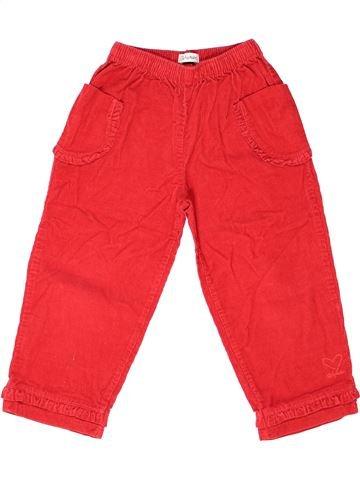 Pantalon fille ALPHABET rouge 4 ans hiver #1272156_1
