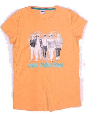 T-shirt manches courtes fille ONE DIRECTION orange 14 ans été #1272398_1