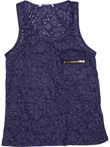 T-shirt sans manches fille NEW LOOK bleu 11 ans été #1272408_1