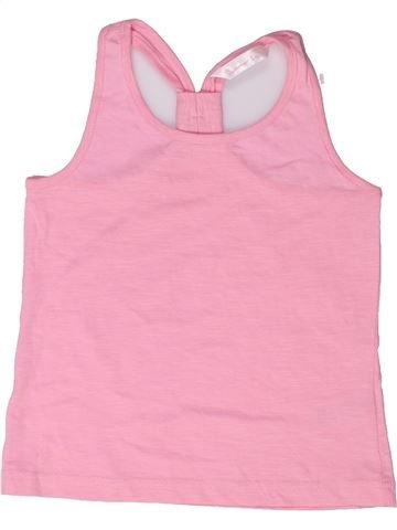 T-shirt sans manches fille SUMMER LOVE rose 5 ans été #1272473_1