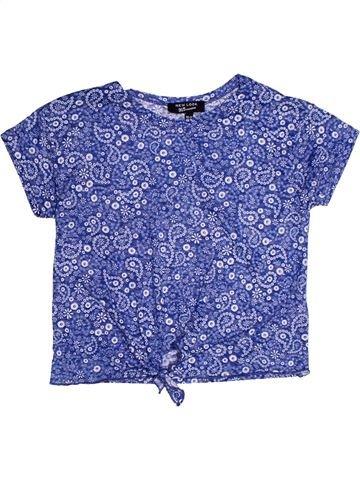 T-shirt manches courtes fille NEW LOOK violet 11 ans été #1272562_1