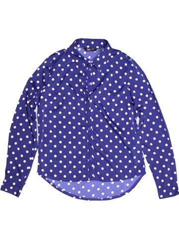Blouse manches longues fille NEW LOOK violet 12 ans hiver #1272689_1