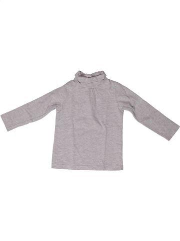 Camiseta de cuello alto niña BOUT'CHOU gris 2 años invierno #1272754_1