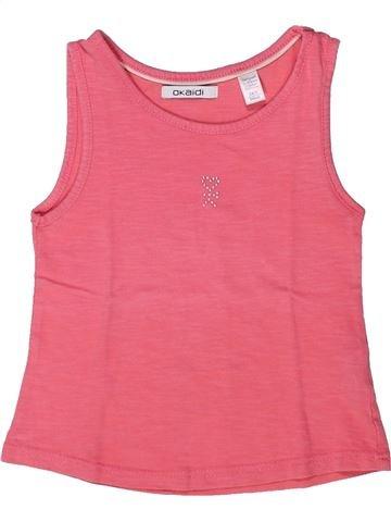 T-shirt sans manches fille OKAIDI rose 3 ans été #1272809_1