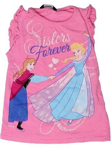 T-shirt sans manches fille GEORGE rose 4 ans été #1272922_1