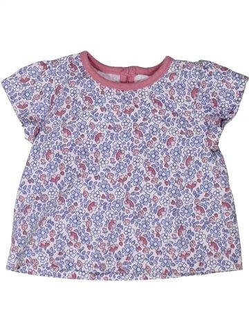 T-shirt manches courtes fille GEORGE violet 1 mois été #1272959_1
