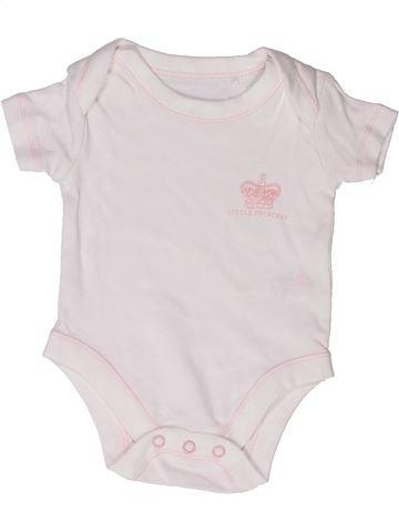 T-shirt manches courtes fille SANS MARQUE blanc naissance été #1272971_1