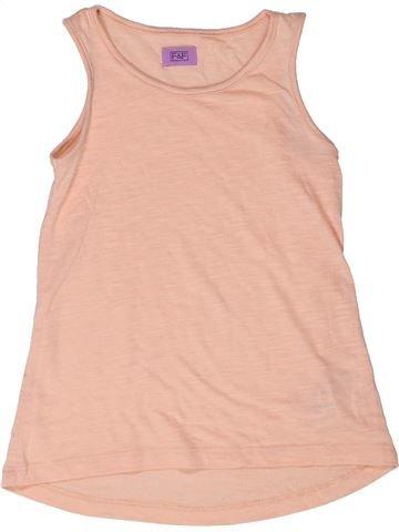 T-shirt sans manches fille F&F beige 6 ans été #1273003_1