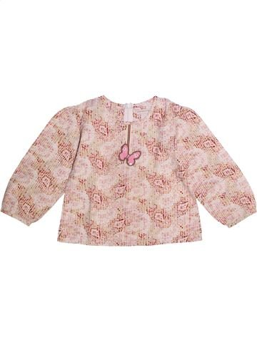 Blouse manches longues fille ORCHESTRA rose 4 ans hiver #1273169_1