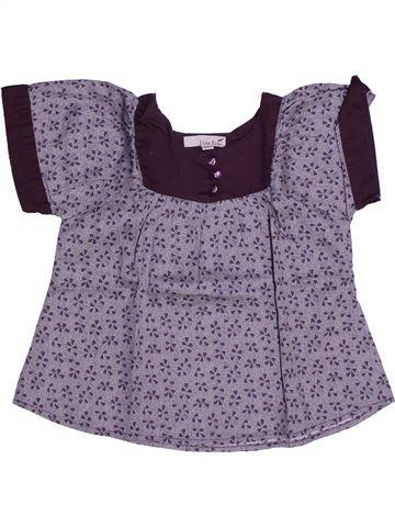Blusa de manga corta niña LISA ROSE violeta 3 años verano #1273317_1
