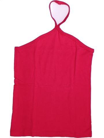T-shirt sans manches fille PETIT BATEAU rouge 14 ans été #1273330_1
