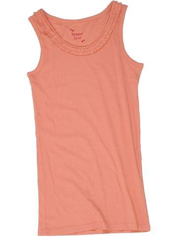 T-shirt sans manches fille MATALAN orange 11 ans été #1274913_1