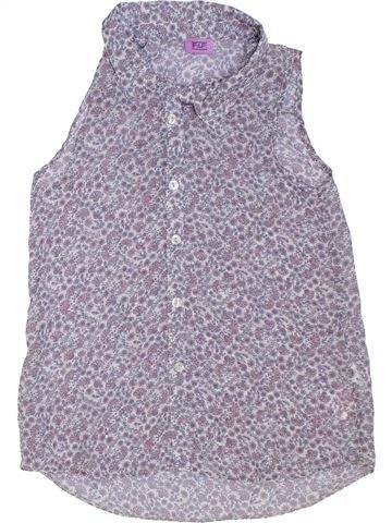 Blouse manches courtes fille F&F violet 8 ans été #1275199_1