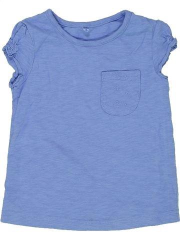 T-shirt manches courtes fille GEORGE bleu 3 ans été #1275372_1