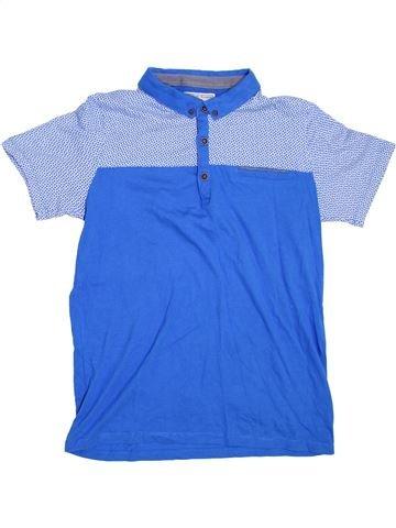 Polo manches courtes garçon MATALAN bleu 13 ans été #1275666_1