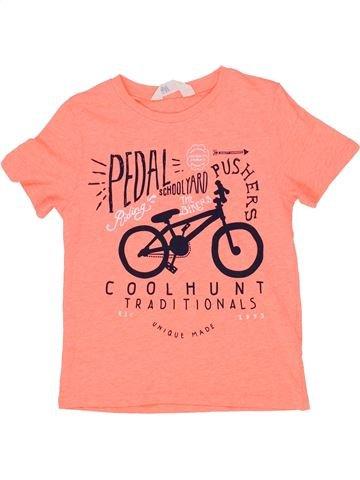 T-shirt manches courtes garçon H&M rose 6 ans été #1276774_1