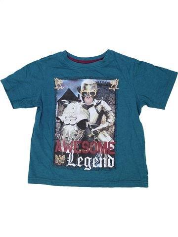 T-shirt manches courtes garçon MATALAN vert 5 ans été #1276855_1