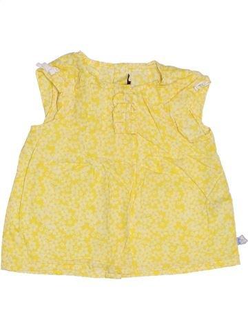 Blouse manches courtes fille SERGENT MAJOR jaune 3 ans été #1278264_1