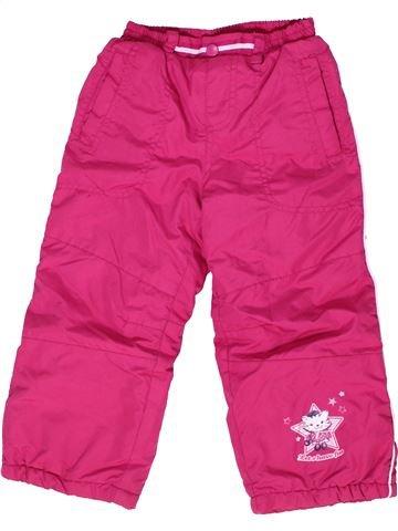 Pantalon fille KIKI & KOKO rose 4 ans hiver #1278711_1