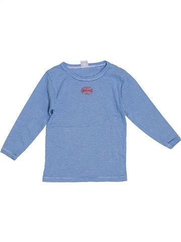 T-shirt manches longues garçon PETIT BATEAU bleu 4 ans hiver #1278714_1