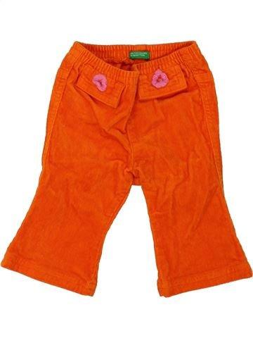 Pantalón niña BENETTON rojo 6 meses invierno #1281240_1