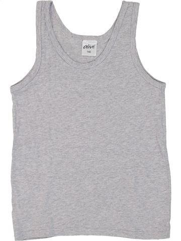 T-shirt sans manches fille ALIVE gris 10 ans été #1282340_1