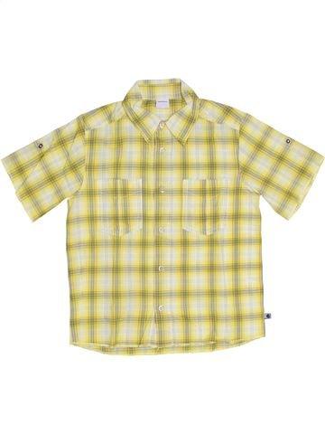 Chemise manches courtes garçon PETIT BATEAU beige 8 ans été #1284791_1