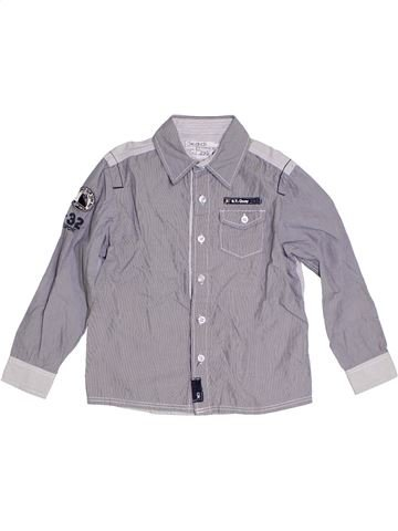Camisa de manga larga niño OKAIDI gris 6 años invierno #1284915_1