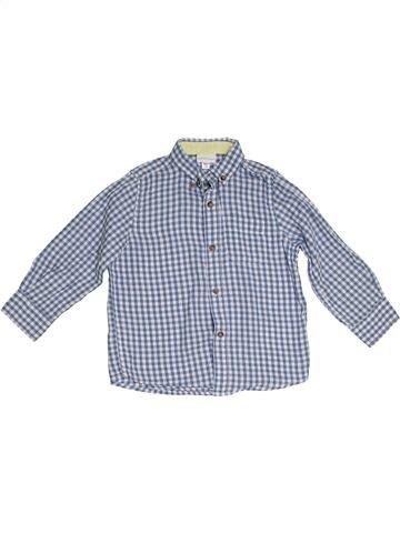 Camisa de manga larga niño VERTBAUDET azul 4 años invierno #1285457_1