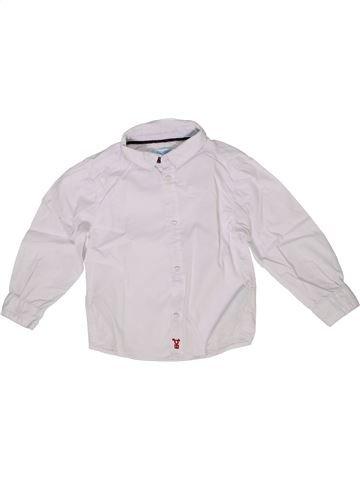 Camisa de manga larga niño OKAIDI blanco 2 años invierno #1285507_1