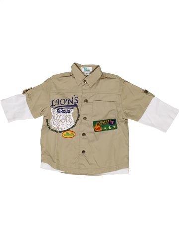 Camisa de manga larga niño VERTBAUDET beige 2 años invierno #1285513_1