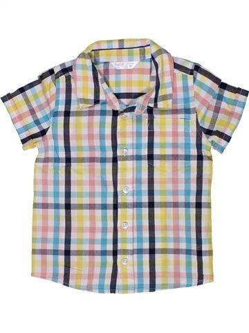 Chemise manches courtes garçon M&CO blanc 3 ans été #1286011_1