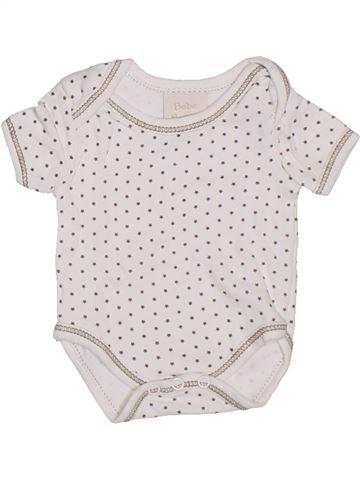 T-shirt manches courtes fille BEBE BONITO blanc naissance été #1288058_1
