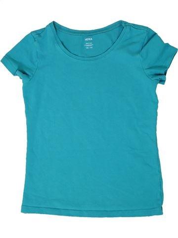 T-shirt manches courtes fille HEMA bleu 12 ans été #1290330_1