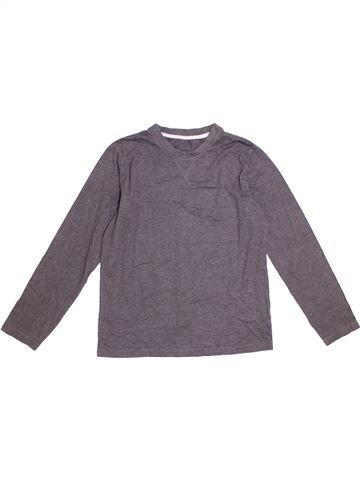 T-shirt manches longues garçon GEORGE violet 11 ans hiver #1290886_1