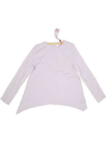 T-shirt manches longues fille M&CO blanc 9 ans hiver #1291670_1