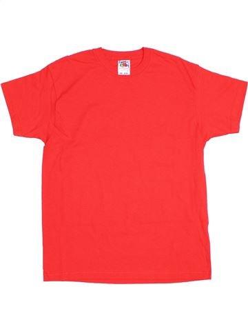 T-shirt manches courtes fille FRUIT OF THE LOOM rouge 11 ans été #1292184_1