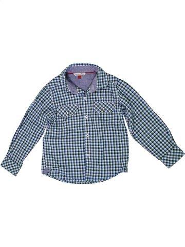 Chemise manches longues garçon JOHN LEWIS bleu 4 ans hiver #1294793_1