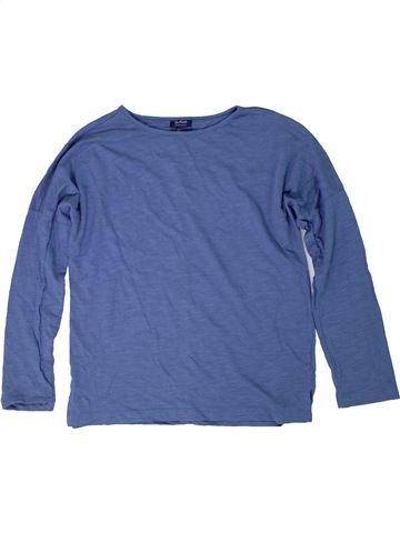 T-shirt manches longues fille BLUKIDS bleu 10 ans hiver #1295401_1