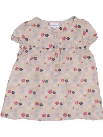 Blusa de manga corta niña VERTBAUDET rosa 2 años verano #1296360_1