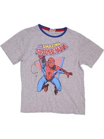 T-shirt manches courtes garçon NUTMEG gris 8 ans été #1297708_1