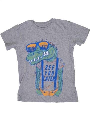 Camiseta de manga corta niño SANS MARQUE gris 8 años verano #1297969_1