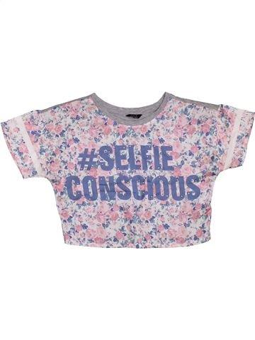 T-shirt manches courtes fille KYLIE violet 12 ans été #1298163_1
