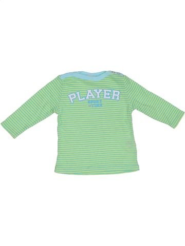 T-shirt manches longues fille IANA vert 6 mois hiver #1298966_1