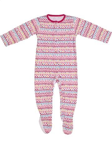 Pyjama 1 pièce fille TU rose 2 ans été #1299264_1