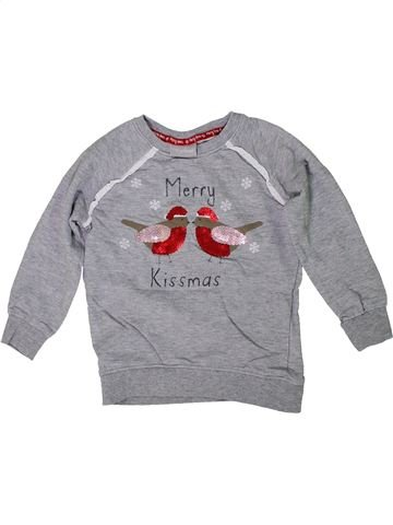 Sweat fille I LOVE GIRLSWEAR gris 5 ans hiver #1299851_1