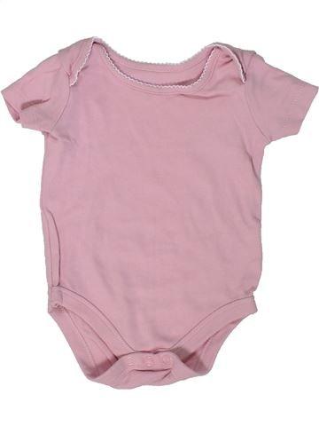 T-shirt manches courtes fille JOHN LEWIS rose 6 mois été #1300058_1